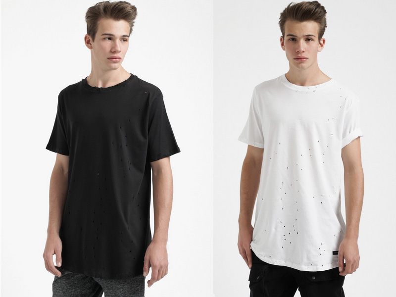 SMTHN-Distressed-Round-Long-T-Shirt